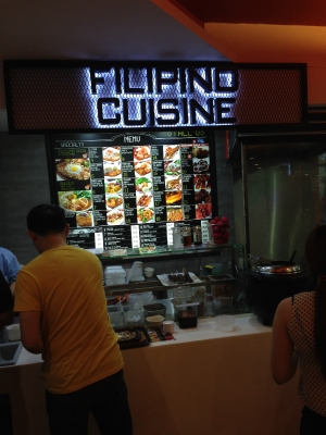 Filipino Cuisine in Novena MRT Station